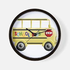 Unique School bus Wall Clock