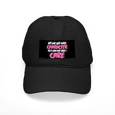 Like I Care White-Pink Baseball Hat