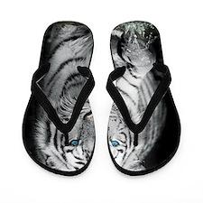 White Tiger Flip Flops
