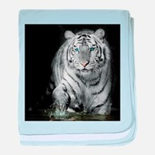 White Tiger baby blanket