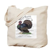 modern vintage fall turkey Tote Bag