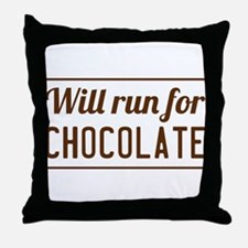 Will run for chocolate Throw Pillow