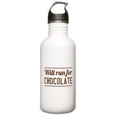 Will run for chocolate Water Bottle