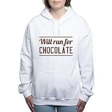 Will run for chocolate Women's Hooded Sweatshirt