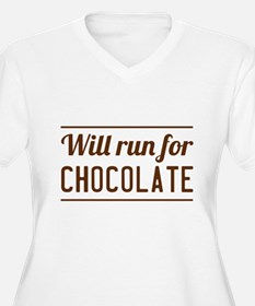 Will run for chocolate Plus Size T-Shirt