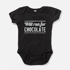 Will run for chocolate Baby Bodysuit
