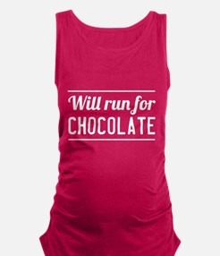 Will run for chocolate Maternity Tank Top