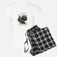 modern vintage fall turkey Pajamas