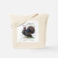 modern vintage fall turkey Tote Bag