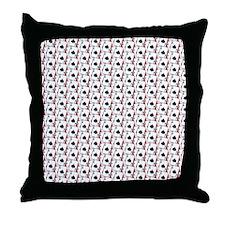 Blackjack Spades Red Throw Pillow