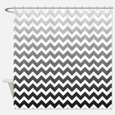 Cute Chevron gray Shower Curtain