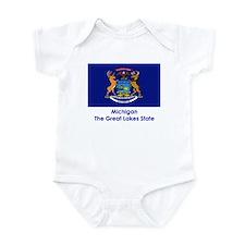 Michigan State Flag Infant Bodysuit