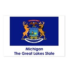 Michigan State Flag Postcards (Package of 8)
