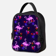 Pink Flamingos and Tropical Bir Neoprene Lunch Bag
