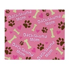 dachshund mom Throw Blanket