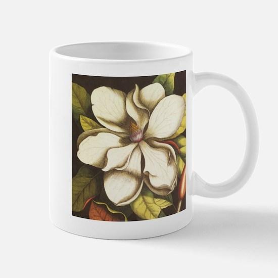 modern vintage fall magnolia flower Mugs