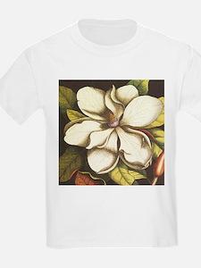 modern vintage fall magnolia flower T-Shirt