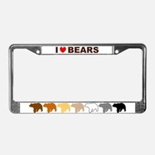 Funny Gay bear pride License Plate Frame