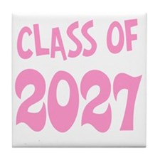 Class of 2027 (pink) Tile Coaster