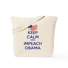 Keep Calm and Impeach Obama Tote Bag
