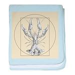 Vetruvian Crawfish1 baby blanket