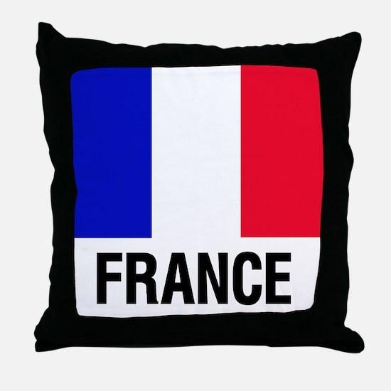 Cute French flag Throw Pillow