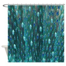 Shining Peacock Feathers Shower Curtain
