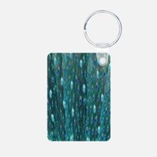 Shining Peacock Feathers Keychains