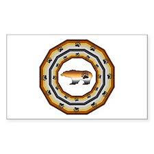 PRIDE BEAR/PRIDE CIRCLE Rectangle Decal