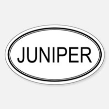 JUNIPER (oval) Oval Decal
