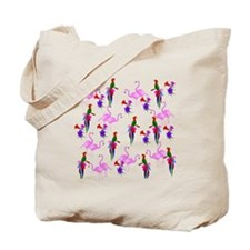 Pink Flamingos and Tropical Birds 2 Tote Bag