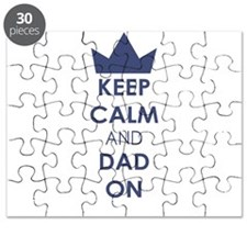 Keep Calm Dad On Puzzle