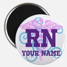 Rn Swirl With Personalized Name Magnets