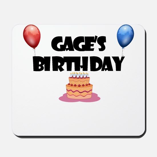 Gage's Birthday Mousepad