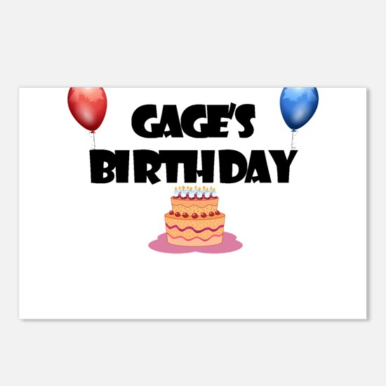 Gage's Birthday Postcards (Package of 8)