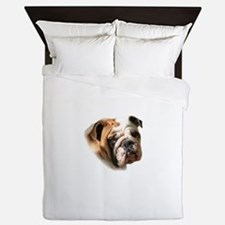 Cute Bulldog Queen Duvet