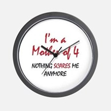 Nothing Scares Mom 4 Wall Clock