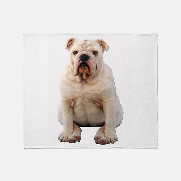 Cute English bulldogs Throw Blanket