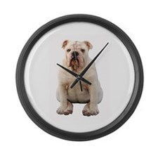 Funny Fresno state bulldogs Large Wall Clock