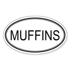 MUFFINS (oval) Oval Decal