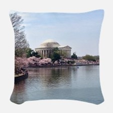 Blossoms in DC Woven Throw Pillow