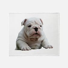 Cute English bulldog Throw Blanket