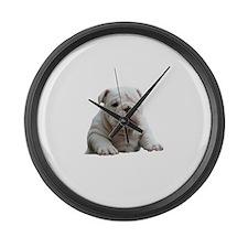 Cute Fresno state bulldogs Large Wall Clock