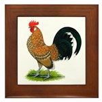 Dutch Bantam Rooster Framed Tile