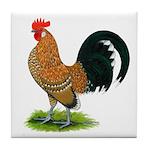 Dutch Bantam Rooster Tile Coaster
