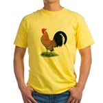 Dutch Bantam Rooster Yellow T-Shirt