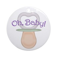 Oh Baby! Pacifier Design Ornament (Round)