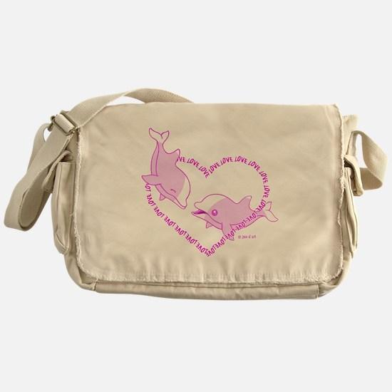 I Love Dolphins (Pink) Messenger Bag