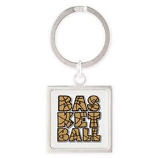 BASKETBALL CUBE Square Keychain