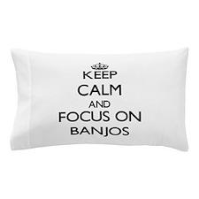Cute I love banjos Pillow Case
